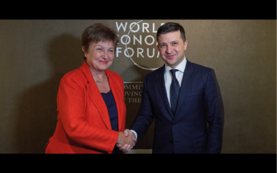 Georigieva i Zełenski o banku centralnym