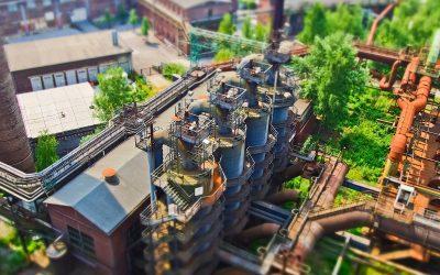 Spadek produkcji przemysłowej